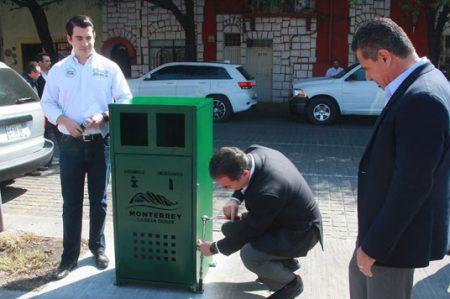 Arranca Monterrey instalación de mil 500 botes de basura