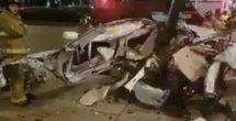 Difunden videos de aparatoso accidente en Paseo de la Reforma