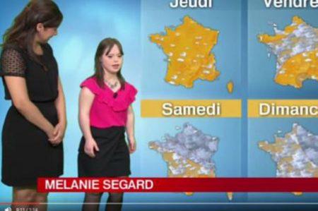 Chica con síndrome Down presenta el clima y rompe récord de audiencia
