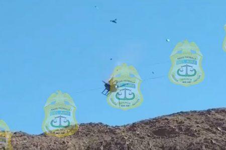 Captan en video caída y explosión de un helicóptero de la PEP