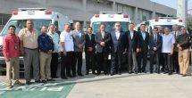 Entrega IMSS Nuevo León ambulancias para traslados programados