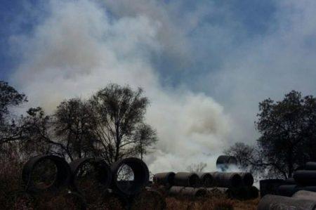 Controlan incendio en Cerro de la Estrella