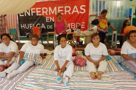 Reportan gravedad de enfermeras en huelga de hambre en Chiapas