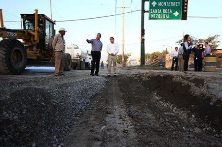 López Mateos y Santa Rosa registra un 38 por ciento de avance