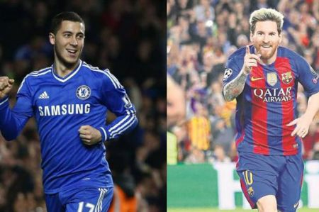 Messi es el mejor 'artista' con el balón en los pies: Hazard