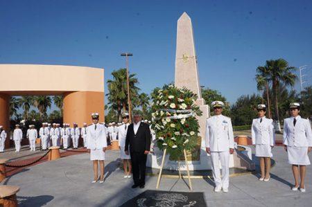 Conmemoran aniversario de la defensa del puerto de Veracruz