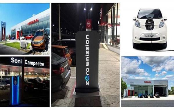 Instala Nissan estaciones de recarga en toda la República