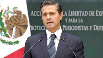 Ante reclamos, promete EPN justicia a periodistas