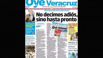 Anuncia su cierre otro periódico en Veracruz