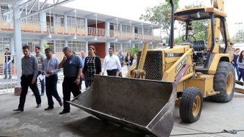Avanzan obras del nuevo Colegio de Bachilleres en San Nicolás