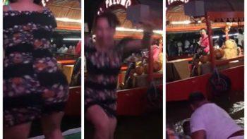#LadyTakaTaka daba lección de twerking y termina empapada