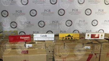 Aseguran más de 492 mil cigarros de contrabando en Jalisco