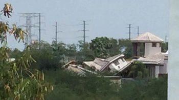 Derrumbe de casa en 'Las Haciendas' genera pánico entre la población