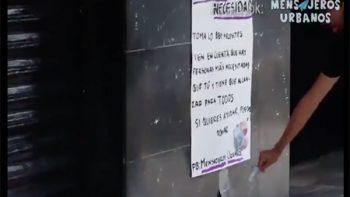 Dejan dinero para indigentes, 'gandallas' se lo llevan (VIDEO)