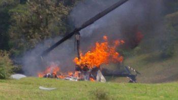 Helicóptero se desploma en Veracruz; hay tres heridos