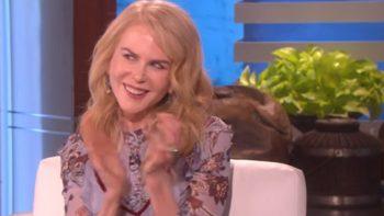 Nicole Kidman demuestra que sabe aplaudir con Ellen DeGeneres