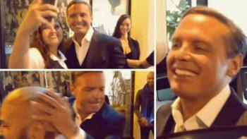 Luis Miguel bromea y maneja su propio auto en Los Ángeles