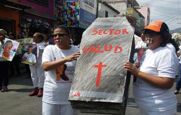 Enfermeras concluyen huelga de hambre en Chiapas