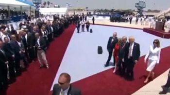Melania rechaza a Trump durante gira por Israel (VIDEOS)