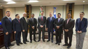 Recibe Adrián de la Garza a Vicepresidente de Honduras