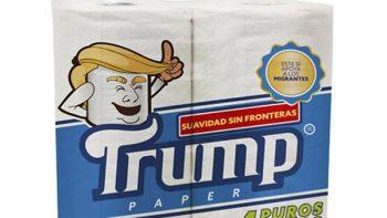 Lanza mexicano papel higiénico marca 'Trump'