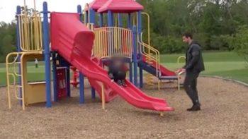 Niño es 'secuestrado' frente a su padre por distraerse en el celular (VIDEO)