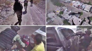 Difunden video de operativo militar en Sinaloa