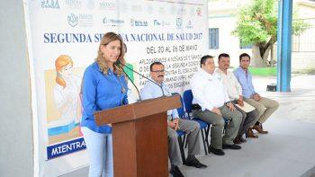 Inaugura Maki Ortiz Segunda Semana Nacional de Vacunación
