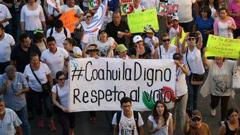 Pide bloque opositor anular elecciones en Coahuila