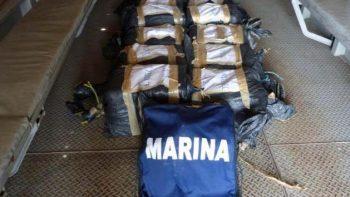 Aseguran en Chiapas 212.5 kilos de cocaína flotando en el mar