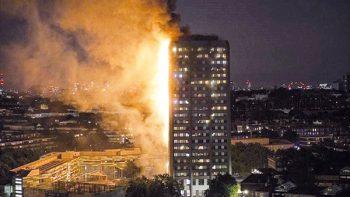 Refrigerador defectuoso ocasionó incendio en torre de Londres