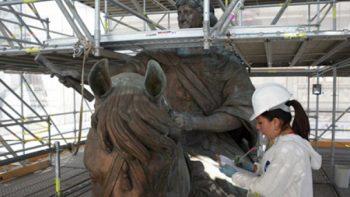 Culmina restauración de 'El Caballito'; entregan la obra el próximo miércoles