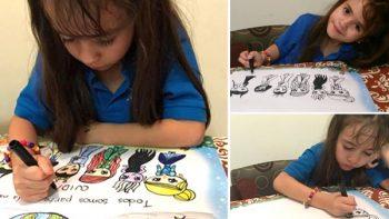 Descalifican a niña de concurso de dibujo, 'por dibujar muy bien'