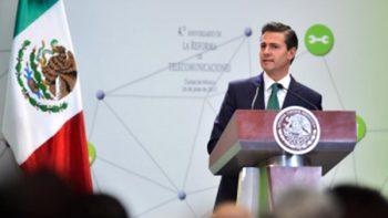 Peña Nieto destaca crecimiento del sector telecomunicaciones en cuatro años