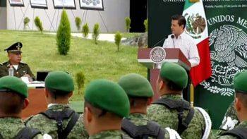 Peña Nieto destaca fortalecimiento de las instituciones armadas