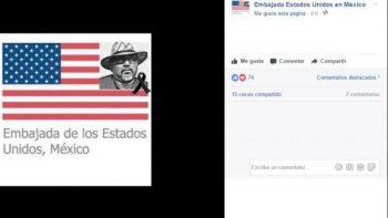Embajada de EU en México rinde homenaje a Javier Valdez en Facebook