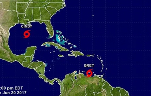 Se forma la tormenta tropical Bret en el Atlántico