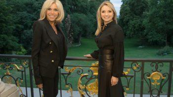 Angélica Rivera y Brigitte Macron se reúnen en París
