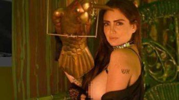 Celia Lora desafía a Instagram y se muestra 'topless'