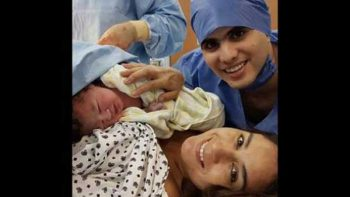 En triple festejo, Paola Espinosa e Iván García ya son papás