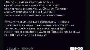 Exceso de usuarios afecta a HBO Go