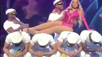 Falta de entusiasmo de Mariah Carey al bailar provoca burlas(VIDEO)