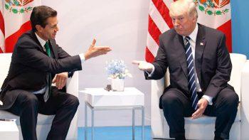 Peña Nieto y Trump dialogan sobre el Tratado de Libre Comercio