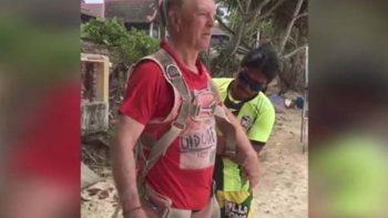 Mujer graba muerte de su esposo al caer de paracaídas en Tailandia