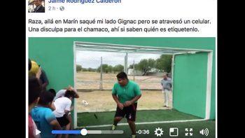 Le falla la puntería a 'El Bronco' ¡y le rompe el celular a un joven! (VIDEO)