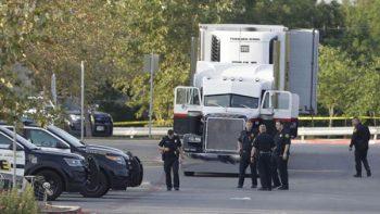 Murieron cuatro mexicanos migrantes en tráiler de Texas: SRE