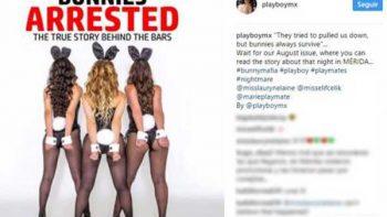 Arresto de 'conejitas' llega a portada de Playboy México