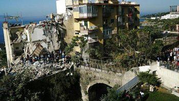 Ocho desaparecidos en derrumbe de edificio en sur de Italia