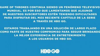 HBO Go falla en nueva temporada de Game of Thrones