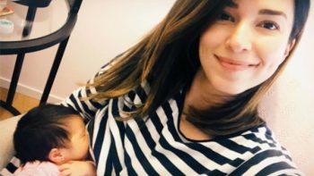 Laura G alimenta a su bebé y comparte la imagen en Instagram